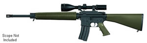 Armalite Model M15A4 Tactical Rifle , 223 Remington, Semi-Auto, 20 in, Green Syn Stock, Black Finish, 30 + 1 Rd, w/Scope Mount