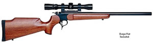 Thompson Center Model G2 Contender Rifle 1239, 22 Long Rifle, Brk Open Act, 23 in, Walnut Stock, Blue Finish, 1 Rd