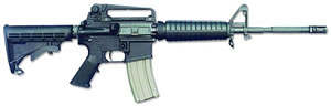 Bushmaster A3 Patrolmans Carbine 90289, 223 Remington, Semi-Auto, 16 in, 6 Pt Collapsible Stock, Black Finish, 30 + 1 Rd