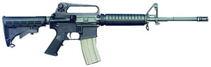 Bushmaster A2 Patrolmans Carbine BCWA2F16M4, 223 Remington, Semi-Auto, 16 in, 6 Pt Collapsible Stock, Black Finish, 30 + 1 Rd