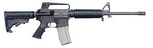 Bushmaster A3 Carbine Rifle BCWA3F16, 223 Remington, Semi-Auto, 16 in, 6 Pt Collapsible Stock, Black Finish, 30 + 1 Rd