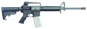 Bushmaster M16 A2 Carbine BCWA2F16, 223 Remington, Semi-Auto, 16 in, 6 Pt Collapsible Stock, Black Finish, 30 + 1 Rd