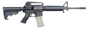 Bushmaster M4 A3 Type Carbine 90275, 223 Remington, Semi-Auto, 14.5 in + 1.5 in pinned Brake, Thermoset Comp Stock, Black Finish, 30 + 1 Rd