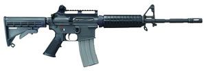 Bushmaster Carbon 15 M4 Carbine AZC15M4PRE, 223 Remington, Semi-Auto, 14.5 in, 6 Pt Collapsible Stock, Black Finish, 30 + 1 Rd
