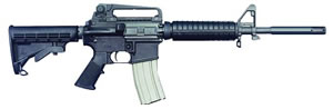 Bushmaster A3 Type Carbine BCWA3F11555, 223 Remington, Semi-Auto, 11.5 + 5.5 in Flash Supp, 6 Pt Collapsible Stock, Black Finish, 30 + 1 Rd