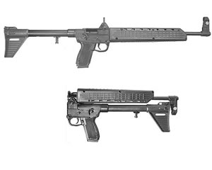 Kel-Tec Model SUB-2000 Rifle SUB2K9BRT92, 9 MM, Semi-Auto, 16.1 in, Syn Stock, Blue Finish, 10 + 1 Rd, w/Beretta 92 Mag