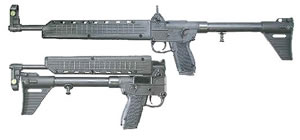 Kel-Tec Model SUB-2000 Rifle SUB2K40GLK22, 40 S&W, Semi-Auto, 16.1 in, Syn Stock, Blue Finish, 10 + 1 Rd, w/Glock 22 Mag