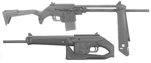 Kel-Tec Model SU-16C Sport Utility Carbine SU16C, 223 Remington, Semi-Auto, 16 in, Syn Folding Stock, Blue Finish, 10 + 1 Rd