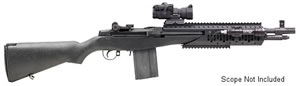 Springfield M1A Scout Socom II Rifle AA9627, 308 Winchester, Semi-Auto, 16 1/4 in, Black Syn Stock, Black Finish, 10 + 1 Rd
