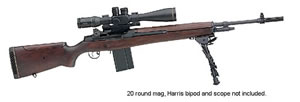 Springfield M1A M21 Tactical Assault Rifle SA9121, 308 Winchester, Semi-Auto, 22 in, Walnut Stock, Blue Finish, 10 + 1 Rd