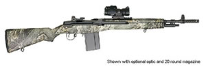 Springfield M1A Scout Squad Rifle AA9124, 308 Winchester, Semi-Auto, 18 in, Mossy Oak Camo Stock, Black Finish, 10 + 1 Rd
