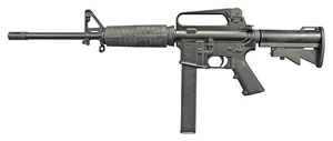 Olympic Arms Model K9 9mm Carbine K9, 9 MM, Semi-Auto, 16 in, 6 Pt Collapsible Stock, Black Finish, 32+1 rd Rd