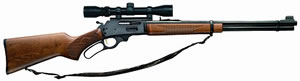 Marlin Model 336 Rifle 336W-WS 70521, 30-30 Winchester, Lever, 20 in, Birchwood Stock, Blue Finish, 6 + 1 Rd, w/Scope
