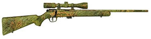 Savage Model 93R17XP Rifle 96765, 17 HMR, Bolt Action, 22 in, Syn Camo Stock, Blue Finish, 5 + 1 Rd, w/Scope