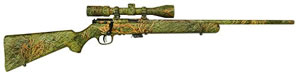 Savage Model 93XP Rifle 90755, 22 Winchester Magnum, Bolt Action, 22 in, Syn Camo Stock, Blue Finish, 5 + 1 Rd, w/Scope