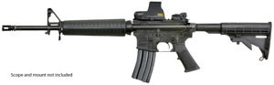 Armalite Model M15A4CBA2K Rifle , 223 Remington, Semi-Auto, 16 in, Collapsible Stock, Black Finish, 30 + 1 Rd