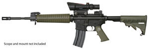 Armalite Model M15A4C Rifle, 6.8 MM Remington, Semi-Auto, 16 in, Collapsible Stock, Green/Black Finish, 10 + 1 Rd