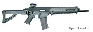 Sig Sauer Model 552 Rimfire Rifle R52216BC, 22 Long Rifle, Semi-Auto, 16 in BBL, Folding Stock, Black Finish, 25 Rd, Pict Rail