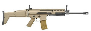 FN Herstal Scar Rifle 98501, 223 Rem./5.56 Nato, Semi-Auto, 16 1/4 in, Side Folding Polymer Stock, Dark Earth Finish, 30 + 1 Rd