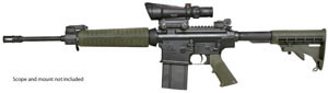 Armalite Model AR-10A4 Carbine 10A4CF, 308 Winchester, Semi-Auto, 16 in, Collapsible Stock, Green/Black Finish, 10/20 Rd