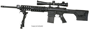 Armalite Model AR-10 Super SASS Rifle 10SBF, 308 Winchester, Semi-Auto, 20 in, Magpul Adj Buttstock, Black Finish, 10/20 Rd