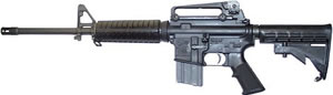 Colt Defense A3 Type Law Enforcement Tactical Carbine AR6721, 223 Remington, 16.1 in, 6 Pos Adj Stock, Black Finish, 30 + 1 Rd