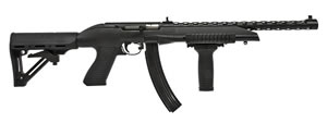 Puma Wildcat Rimfire Rifle PPS22WC10X30, 22 Long Rifle, Semi-Auto, 16 in, Syn Stock, Black Finish, 30 + 1 Rd