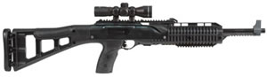 Hi Point Carbine TS Rifle 4595TS4X32, 45 ACP, 17.5 in, Semi Auto, Blk Syn Skel Stock, Black Finish, 9 + 1 Rds, w/Scope