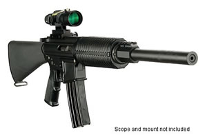 DPMS Panther Lo-Pro Classic Rifle RFA2LPC, 223 Remington/5.56 NATO, Semi-Auto, 16 in BBL, A2 w/Trapdoor Stock, Black Finish, 30 + 1 Rd