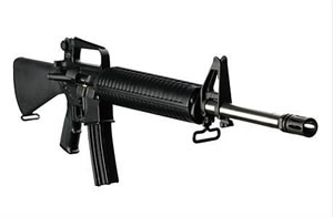 DPMS Panther DCM Rifle RFA2DCM, 223 Remington/5.56 NATO, Semi-Auto, 20 in BBL, A2 w/Trapdoor Stock, Black Finish, 30 + 1 Rd