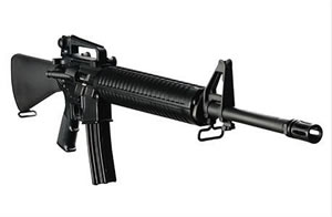 DPMS Panther Rifle RFA368, 6.8mm Remington, Semi-Auto, 20 in BBL, A2 w/Trapdoor Stock, Black Finish, 25+1 Rd