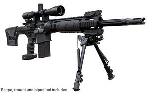 DPMS Panther LRT SASS Rifle RFLRTSASS, 308 Win, Semi-Auto, 18 in BBL, Magpul Adjustable Buttstock, Black Finish, 19 + 1 Rd