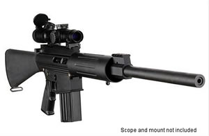 DPMS Panther LR 308B Rifle RFLR308B, 308 Winchester, Semi-Auto, 18 in BBL, A2 w/Trapdoor Stock, Black Finish, 19 + 1 Rd