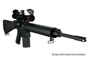 DPMS Panther LR 243 Rifle RFLR243, 243 Winchester, Semi-Auto, 20 in BBL, A2 w/Trapdoor Stock, Black Finish, 19 + 1 Rd
