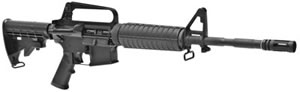 Bushmaster XM-15E2S Series Rifle BCWA1F14M4AM, 223 Remington/5.56 NATO, Semi-Auto, 6 Pos Telestock, Black Finish, 30 + 1 Rds