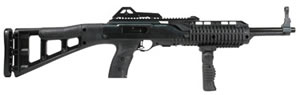 Hi Point Carbine TS Rifle 4595TSFG, 45 ACP, 17.5 in, Semi Auto, Blk Syn Skel Stock, Black Finish, 9 + 1 Rds, Forward Grip