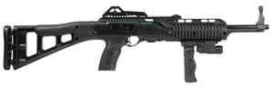 Hi Point Model 995 Carbine 995FGFLTS, 9 mm, Semi-Auto, Polymer Stock, Matte Black Finish, 10 + 1 Rds, w/Fold Grip, Light