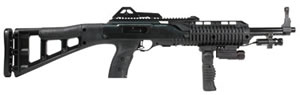 Hi Point Model 995 Carbine 995FGFLLAZTS, 9 mm, Semi-Auto, Polymer Stock, Matte Black Finish, 10 + 1 Rds, w/Fold Grip, Light, Laser