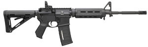 Bushmaster MOE M4 Type Carbine BCWA3F16M4MO, 223 Remington/5.56 NATO, 16 in, Semi Auto, Magpul Adjustable Buttstock, Black Finish
