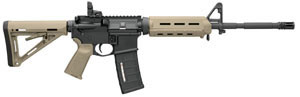 Bushmaster MOE M4 Type Carbine BCWA3F16M4MOED, 223 Remington/5.56 NATO, 16 in, Semi Auto, Magpul Adjustable Buttstock, Dark Earth Finish