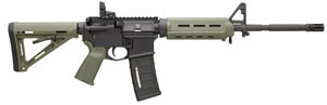 Bushmaster MOE M4 Type Carbine BCWA3F16M4MOEG, 223 Remington/5.56 NATO, 28 in, Semi Auto, Magpul Adjustable Buttstock, Green Finish