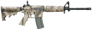 Bushmaster A2 Patrolman Carbine BCWA3F16M4ATAC, 223 Remington/5.56 NATO, Semi-Auto, 6 Pt Collapsible Stock, ATAC Camo Finish, 30 + 1 Rds
