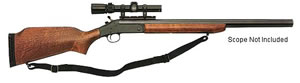 H&R Ultra Slug Gun SB1920, 20 GA, Break Open Act , 24 in BBL, 3 in Chmbr, Walnut Stock, Blue Finish, 1 Rds