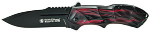 Smith & Wesson SWBLOP3R Blackops Knife, Red