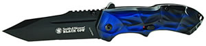Smith & Wesson SWBLOP3TBL Blackops Knife, Tanto, Blue