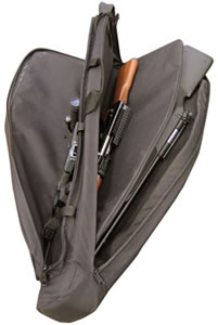 Galati 4208DBL 42 in Double Rifle Case Black