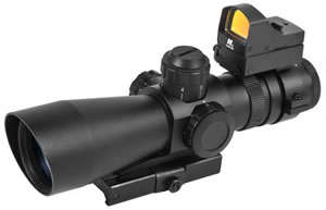 NCStar STM3942G/D Mark III Tactical Red Dot Scope, 3-9x42IL MD
