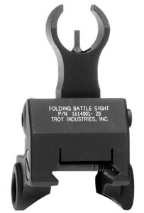 Troy GBF00BT00 BattleSight Gas Block Mounted Front Sight For HK, Folding, Black