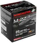 Winchester M-22 Ammunition S22LRT, 22 Long Rifle, Lead Round Nose, 40 GR, 1255 fps, 2000 Rds