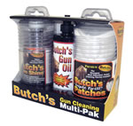 Lyman 02892 Butches Gun Cleaning MultiPack, 35 - 45 Cal, 2 1/4 Patch